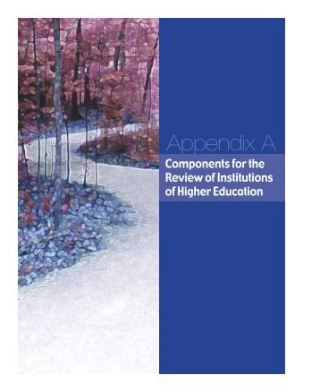 Appendix A: Components for the Review of IHE - Teacher Education ...