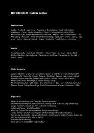 REFERENZEN Natalie Arslan -  Panoramawunder