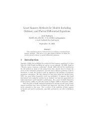 Least Squares Methods for Models Including Ordinary and Partial ...