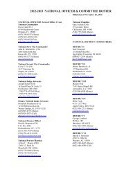 2012-2013 NATIONAL OFFICER & COMMITTEE ROSTER - AmVets