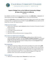 Impact of Budget Cuts on the California Community Colleges ...
