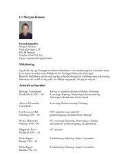 Cv Morgan Jansson Målsättning Arbetslivserfarenhet