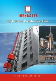 Mekaster High Speed Hoist launched to cater the needs of ...