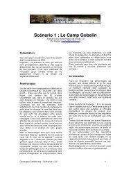 Scénario 1 : Le Camp Gobelin - Cerbere.org