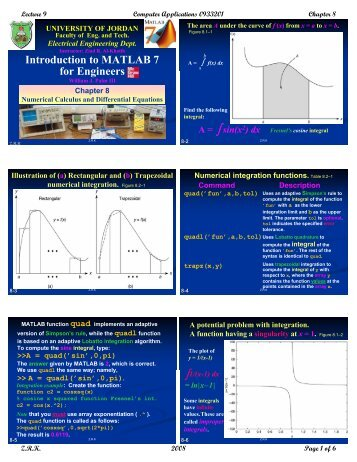 Introduction to MATLAB 7 for Engineers - The University of Jordan