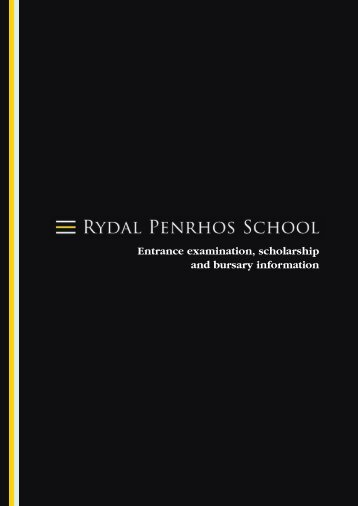 Entrance examination, scholarship and bursary information
