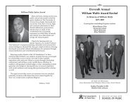 Eleventh Annual William Wolfe Award Recital - School of Music