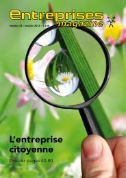 L'entreprise citoyenne - Entreprises magazine