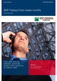 BNP Paribas Fortis metals monthly - TransAfrika Resources