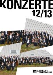 konzert 12/13 - Badisches Staatstheater - Karlsruhe