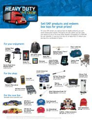 Sell SKF products and redeem box tops for great ... - CBS Parts Ltd.