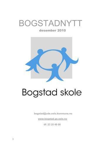 desember 2010 - Bogstad skole