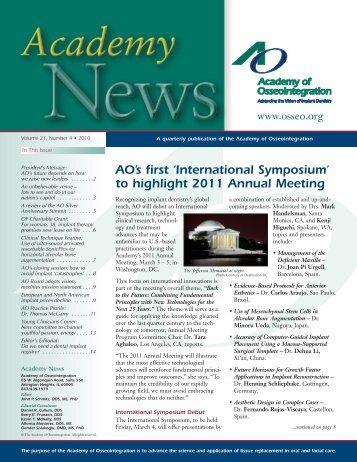 International Symposium - Academy of Osseointegration