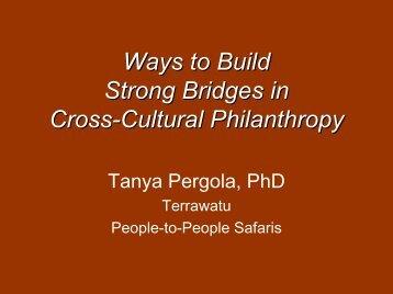 Tanya Pergola - Travelers' Philanthropy