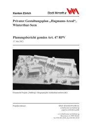Erläuterungsbericht(PDF, 1.5 MB) (öffnet neues Fenster) - Winterthur