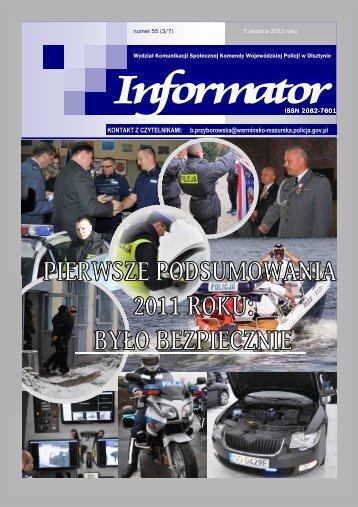Informator nr 55 - Komenda Miejska Policji w Olsztynie