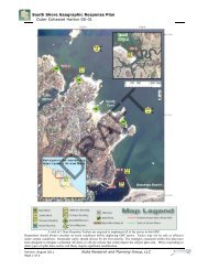 South Shore Geographic Response Plan Outer Cohasset Harbor SS ...