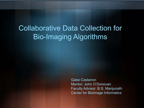 Collaborative Data Collection for Bio-Imaging Algorithms