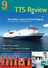 New RoPax vessels for China Shipping - TTS  Group ASA
