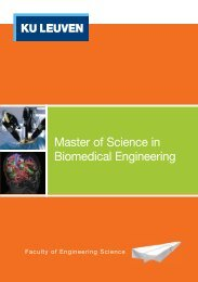 Master of Science in Biomedical Engineering - KU Leuven