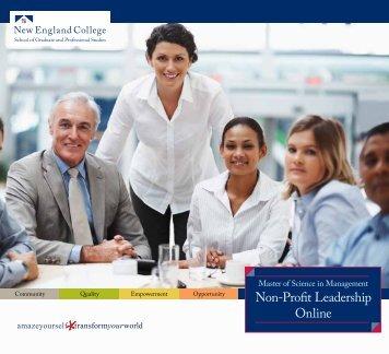 Non-Profit Leadership Online - New England College