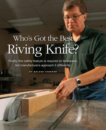 Who's got the Best Riving Knife? - Shark Guard