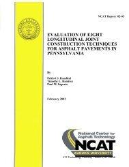 evaluation of eight longitudinal joint construction ... - Auburn University