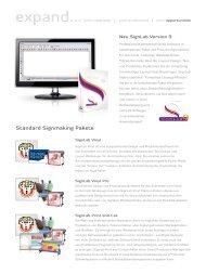 Signlab 9 Price/Feature List - Cadlink Technology Corporation