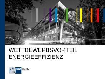 Wettbewerbsvorteil Energieeffizienz