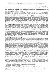 aufgezeigt - Daten-Speicherung.de – minimum data, maximum privacy