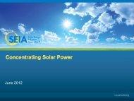 Concentrating Solar Power Technology Presentation - SEIA
