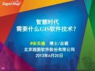 智慧时代需要什么GIS软件技术? - 北京超图软件股份有限公司