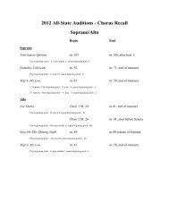 2012 All-State Auditions - Chorus Recall Soprano/Alto
