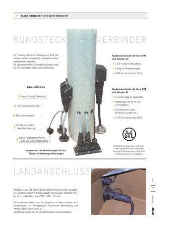 RUNDSTECK – VERBINDER LANDANSCHLUSS - ASA Boot Electro