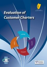 Evaluation of Customer Charters - Department of Public Expenditure ...