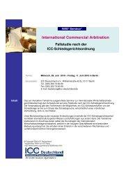 IWIS Seminar Flyer 2010 Aktuell - ICC Deutschland