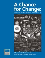 A Chance for Change: Supporting Youth in Transition in New York City
