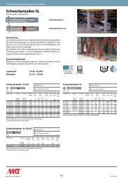 Schwerlastanker SL - MKT Metall-Kunststoff-Technik GmbH & Co. KG