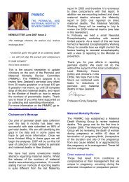 PMMRC Newsletter, issue 2, June 2007 (109 KB, pdf) - Hqsc.govt.nz
