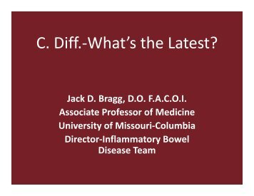 C. Diff.-What's the Latest?