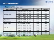 HICO Electric Motors Reference List_ Desalination Plant