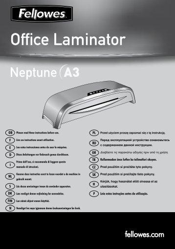 Manuel d'utilisation Neptune A3 - Fellowes