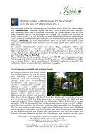 Wanderwoche Jakobswege im Sauerland - Hotel Jagdhaus Wiese