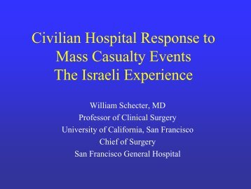 Civilian Hospital Response to Mass Casualty Events