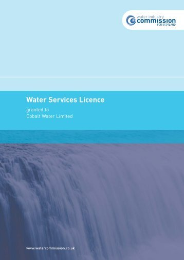 CobaltWaterLicence(8page):Layout 1 - Water Industry Commission ...