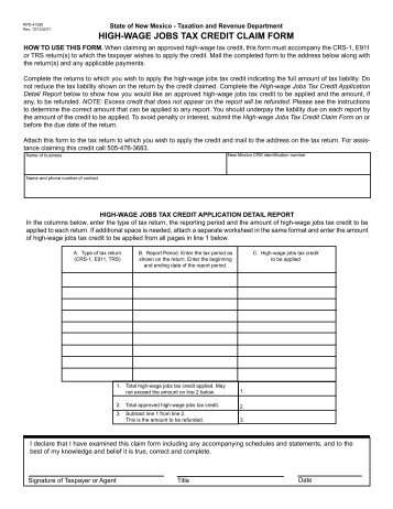 Form IT-601, Claim for EZ Wage Tax Credit - New York State ...