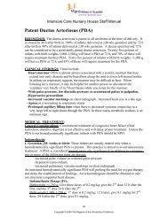 Patent Ductus Arteriosus (PDA) - UCSF Benioff Children's Hospital