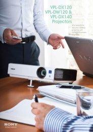 VPL-DX120 VPL-DW120 & VPL-DX140 Projectors - Projector108