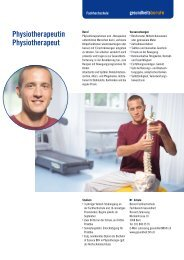Physiotherapeutin Physiotherapeut - Gesundheitsberufe Bern