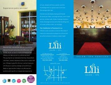 Experience patio services! - Lili Salon Spa